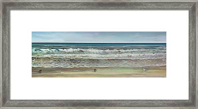 Seashore Ocean Panorama Framed Print by Jennifer Lycke