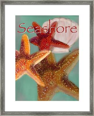 Seashore Poster Framed Print by Christine Fournier