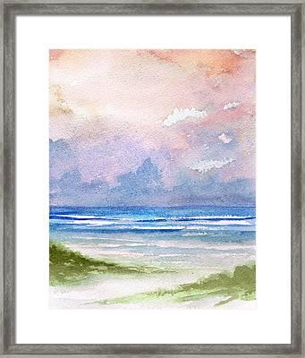 Seashore Sunset Framed Print by Rosie Brown