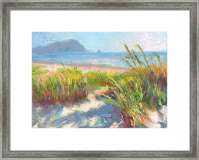 Seaside Afternoon Framed Print by Talya Johnson