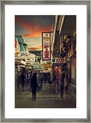 Seaside Boardwalk Framed Print by Kim Zier