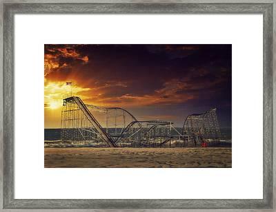 Seaside Coaster Framed Print by Kim Zier