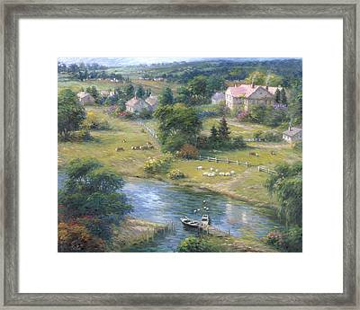Seaside Cottage Framed Print by Ghambaro