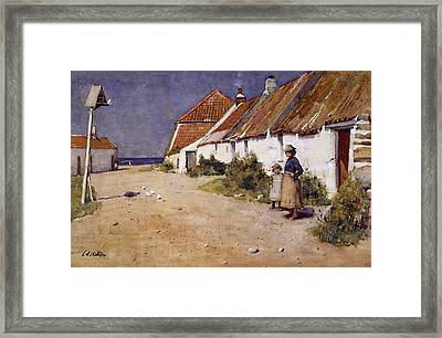 Seaside Cottages With Dovecot Framed Print by Edward Arthur Walton