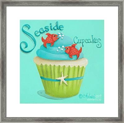 Seaside Cupcakes Framed Print by Catherine Holman