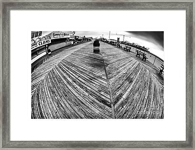 Seaside Distorted Framed Print by John Rizzuto
