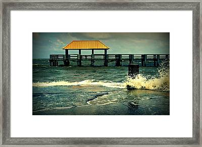 Seaside Dock Framed Print by Ali Dover
