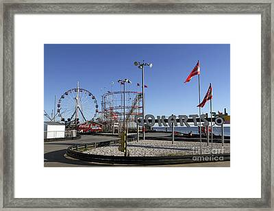 Seaside Fun Town Pier Framed Print by John Van Decker