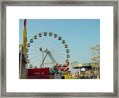 Giant Wheel Seaside Nj Framed Print by Lyric Lucas