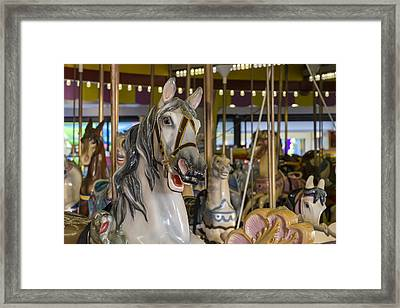 Seaside Heights Casino Carousel  Framed Print by Susan Candelario