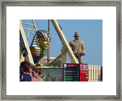 Seaside Casino Pier  Framed Print by Lyric Lucas