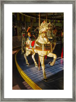 Seaside Heights Casino Pier Carousel  Framed Print by Susan Candelario