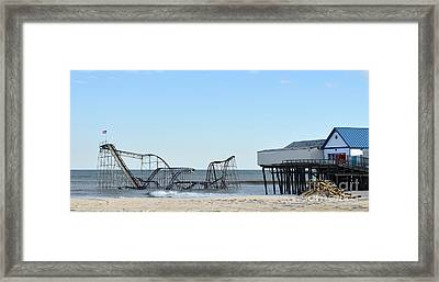 Seaside Heights Jetstar Framed Print by Sami Martin