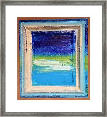 Seaside I Framed Print by Anna Villarreal Garbis