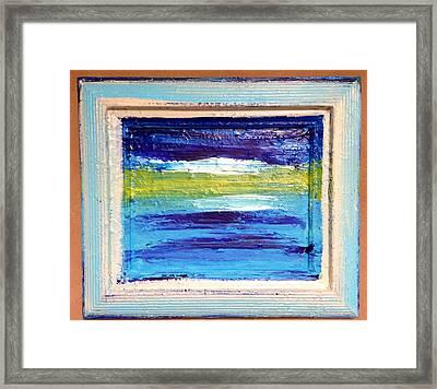Seaside II Framed Print by Anna Villarreal Garbis