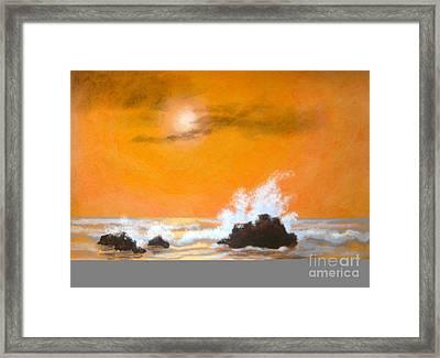 Seaside  Symphony  Framed Print by Shasta Eone
