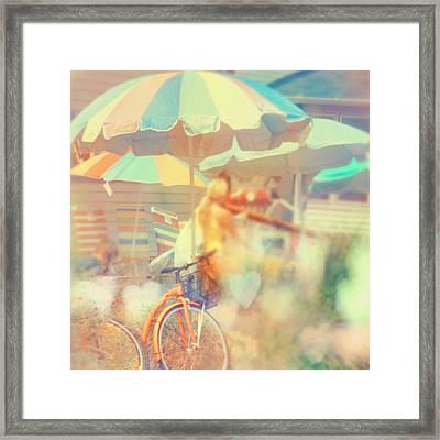 Seaside Town Framed Print by Elle Moss