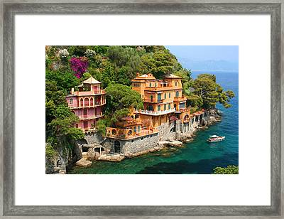 Seaside Villas Framed Print by Dan Breckwoldt