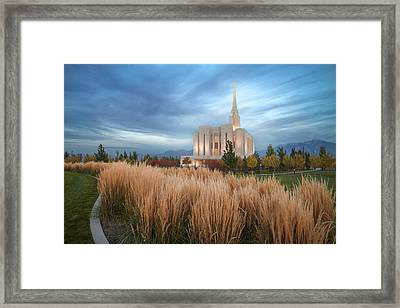 Seasons Of Faith Framed Print by Dustin  LeFevre