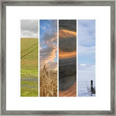Seasons Of The Palouse II Framed Print by Latah Trail Foundation