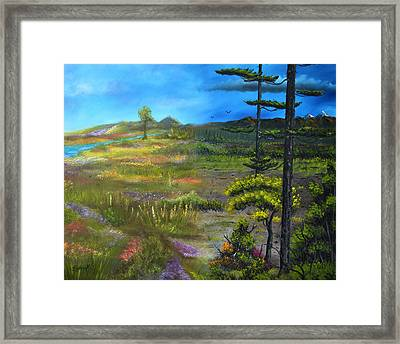 Seasons-summer/autumn Framed Print by Surreal World