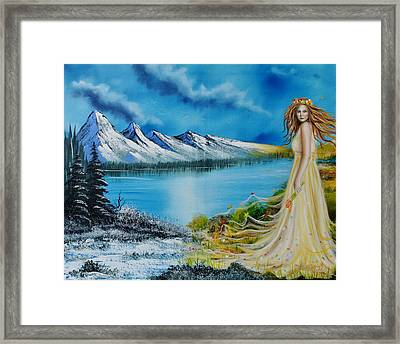 Seasons-winter/spring Framed Print by Surreal World
