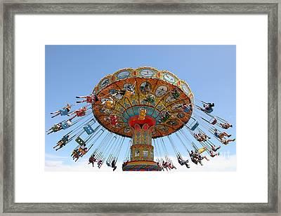Seaswings At Santa Cruz Beach Boardwalk California 5d23901 Framed Print by Wingsdomain Art and Photography