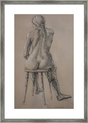 Seated Figure Framed Print by Sarah Parks
