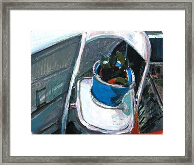 Seated Plant Folding Chair Framed Print by Anita Dale Livaditis
