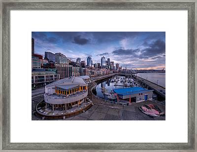 Seattle Bell Street Pier Framed Print by Dan Mihai