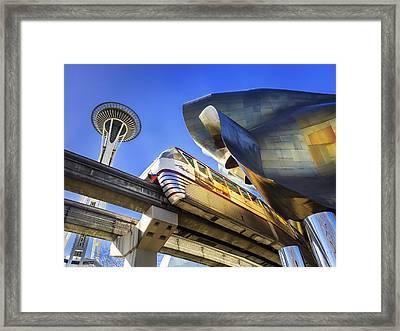 Seattle Center Framed Print by Kyle Wasielewski