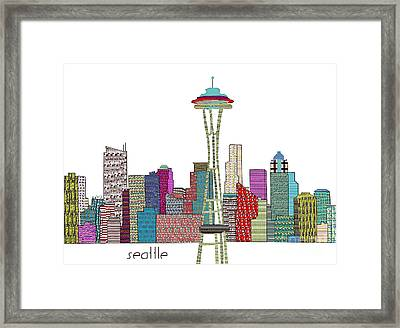 Seattle City  Framed Print by Bri B