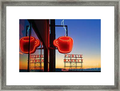 Seattle Coffee Framed Print by Inge Johnsson