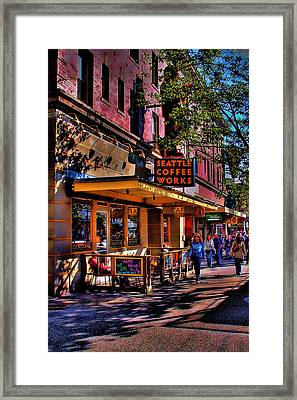 Seattle Coffee Works Framed Print by David Patterson
