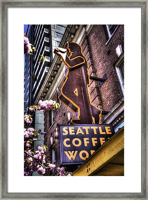 Seattle Coffee Works Framed Print by Spencer McDonald