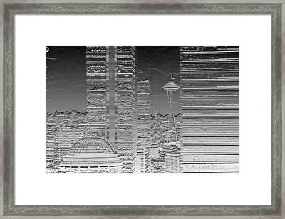 Seattle Landscape Chrome Framed Print by Brad Walters