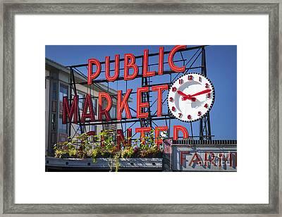 Seattle Market  Framed Print by Brian Jannsen
