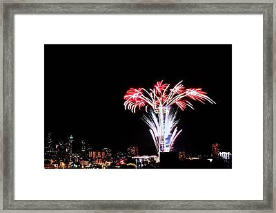 Seattle New Years Framed Print by Benjamin Yeager