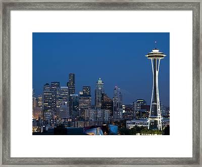 Seattle Nights Framed Print by David Yack