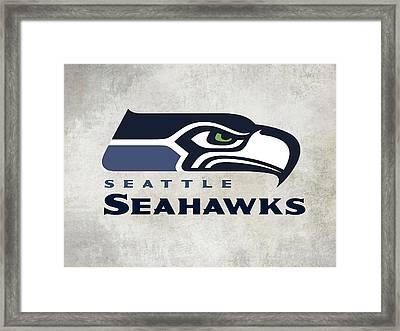 Seattle Seahawks Fan Panel Framed Print by Daniel Hagerman