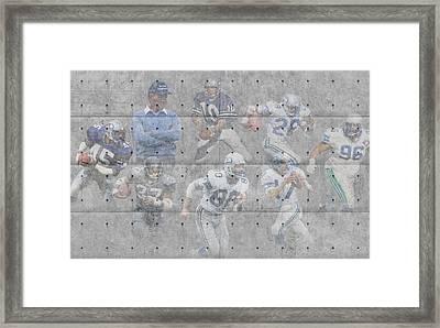 Seattle Seahawks Legends Framed Print by Joe Hamilton