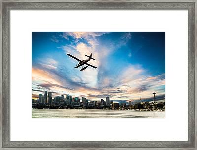 Seattle Short Final Framed Print by Peter Irwindale