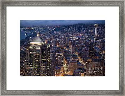 Seattle Urban Details Framed Print by Mike Reid