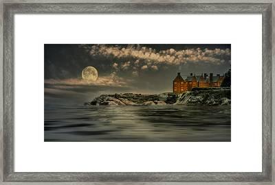 Seaview Moon Framed Print by Robin-lee Vieira