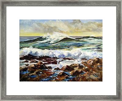 Seawall Framed Print by Lee Piper
