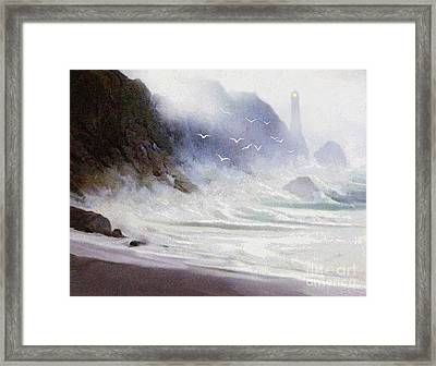Seawall Framed Print by Robert Foster