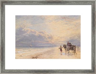 Seaweed Gatherers Framed Print by Myles Birket Foster