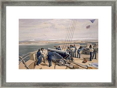 Sebastopol From The Sea, Plate From The Framed Print by William 'Crimea' Simpson