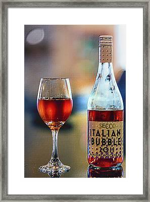Secco Italian Bubbles Framed Print by Bill Tiepelman