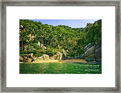 Secluded Beach Framed Print by Elena Elisseeva